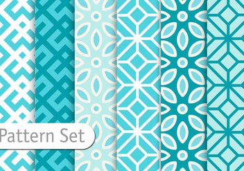 Azuro Blue Geometric Patterns - vector gratuit #345569