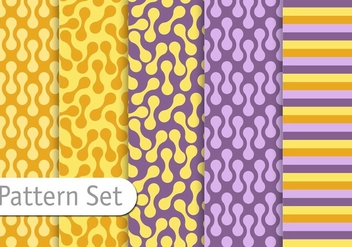 Decorative Colorful Retro Pattern Set - vector gratuit #345589