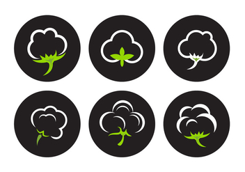 Cotton Plant Vectors - Free vector #345599