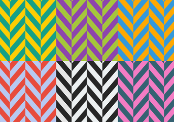 Free High Contrast Herringbone Patterns - vector gratuit #345609