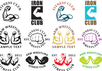 Arm Wrestling Logos - Free vector #345689
