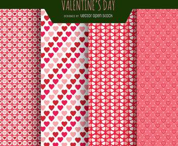 Valentines Love patterns - vector #345799 gratis