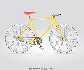 Isolated city bike - vector gratuit #345809
