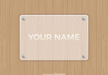 Free Vector Frosted Glass Name Plate - Free vector #345929