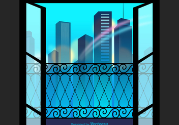 Free City View Vector Illustration - бесплатный vector #345949