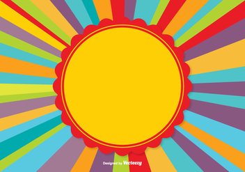Colorful Sunburst Background - vector gratuit #345969