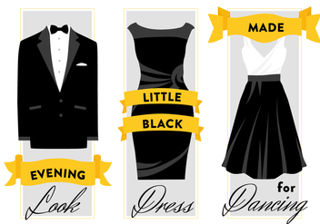 Free Formal Wear Dress and Suit Vector Background - Free vector #346049