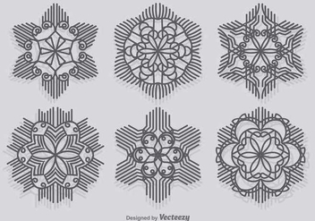 Modern Snowflakes - Free vector #346079