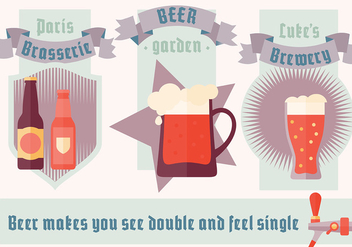 Free Minimal Beer Illustration Vector Background - vector gratuit #346089