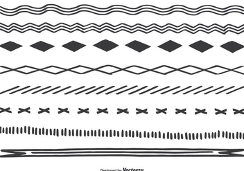 Cute Hand Drawn Borders - vector gratuit #346119