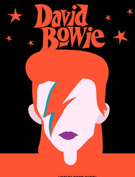 David Bowie tribute - Free vector #346159
