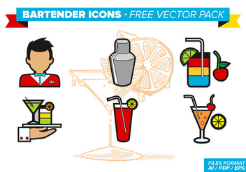 Bartender Icons Free Vector Pack - vector gratuit #346379