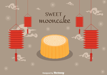 Mooncake Vector Background - бесплатный vector #346459