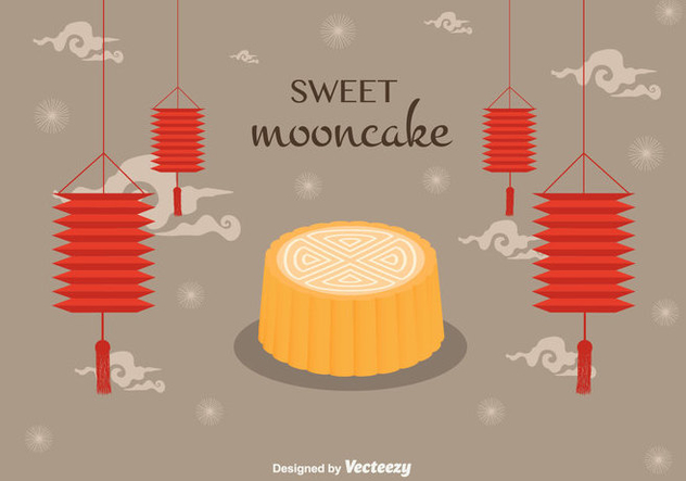 Mooncake Vector Background - Free vector #346459