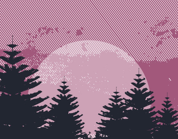 Pine Forest Abstract Sunset - vector gratuit #346509