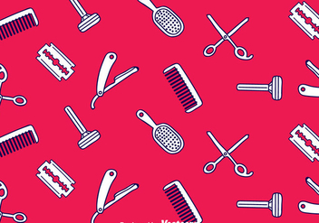 Barber Tools Seamless Pattern - vector gratuit #346669