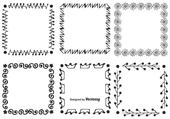 Hand Drawn Style Frame Set - Free vector #346699