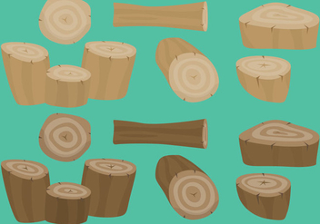 Colorful Log Vectors - vector #346739 gratis
