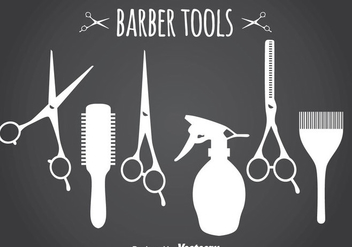 Barber Tools Silhouette - Free vector #346749