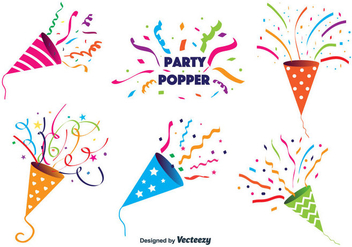 Party Popper Vector - Kostenloses vector #346769