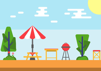 Free Family Picnic Vector Illustrations #5 - Free vector #346779