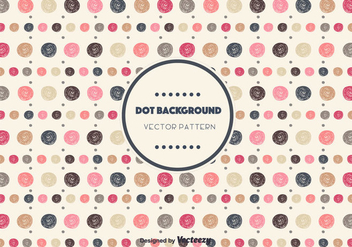 Drawn Dot Background Vector - бесплатный vector #346789