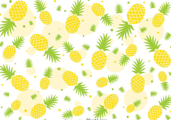 Fresh Ananas Pineapple Vector Pattern - vector gratuit #346839