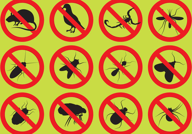 Pest Control-Vektor-Icons - Kostenloses vector #346849