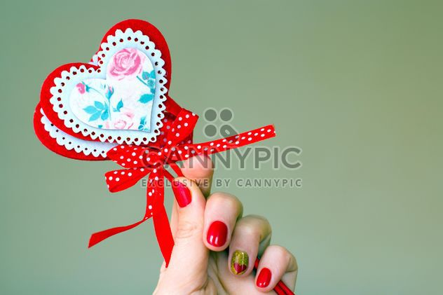 Decoration for St. Valentine's Day in female hand - image gratuit #346939