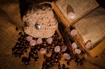 Old books, runes and coffee beans - image gratuit #346969
