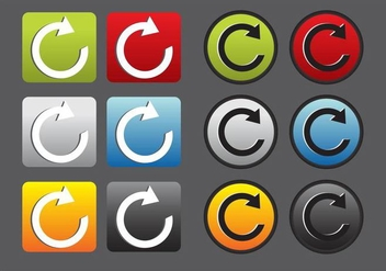 Replay Vector Icons - Free vector #347069
