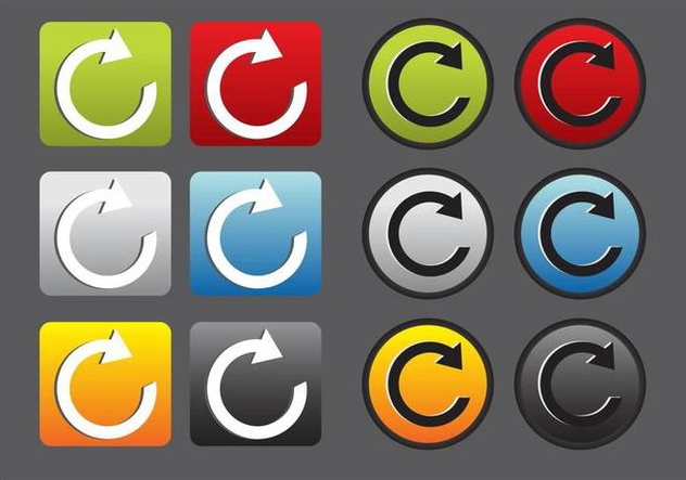 Replay Vector Icons - бесплатный vector #347069