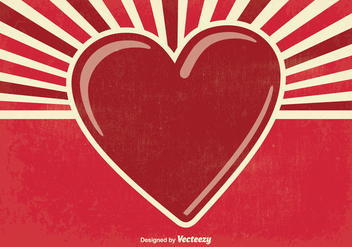 Retro Valentine's Day Illustration - vector #347129 gratis