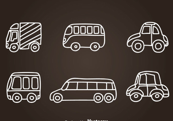 Vehicle Hand Drawn Icon Vectors - vector gratuit #347339