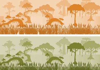 Swamp Landscapes - vector gratuit #347369