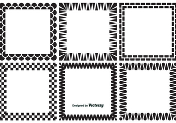 Decorative Square Frames - vector gratuit #347379