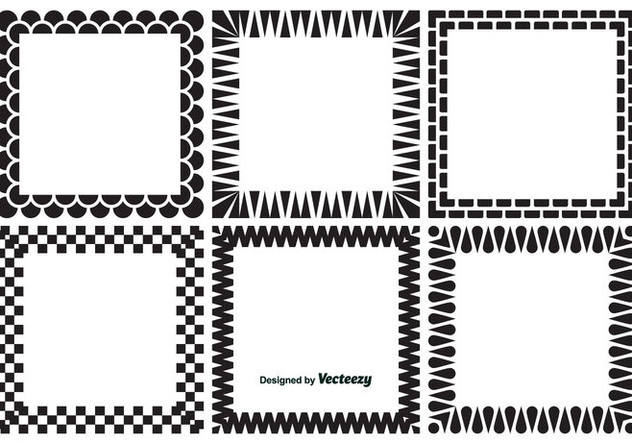 Decorative Square Frames - Free vector #347379