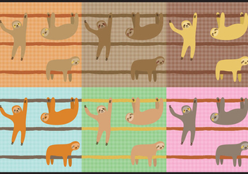 Sloth Patterns - Kostenloses vector #347399
