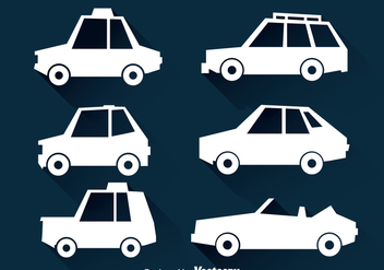 Cars White Icons - vector gratuit #347409