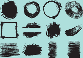 Brush Stroke Vectors - Free vector #347429