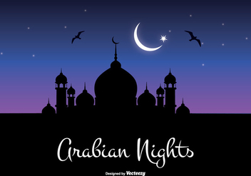 Arabian Nights Illustration - vector gratuit #347459