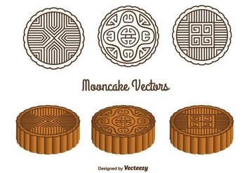 Mooncake Vectors - бесплатный vector #347479