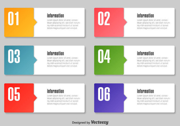Simple Infographic Text Boxes - vector gratuit #347499