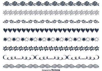 Cute Hand Drawn Style Borders - vector #347509 gratis