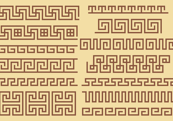 Greek Key Border Vectors - vector #347629 gratis