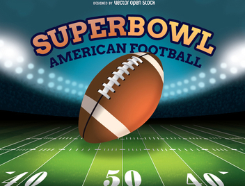 American Football Stadium - vector gratuit #347679