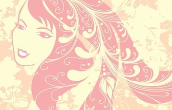 Girl Face Beautiful Floral Art - Free vector #347689