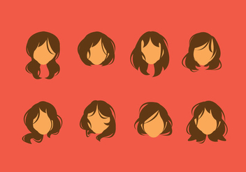 Free Messy Hair Style Vector - Free vector #348049