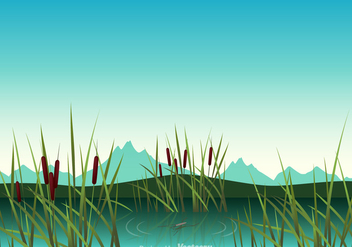 Free Swamp Vector Illustration - бесплатный vector #348069