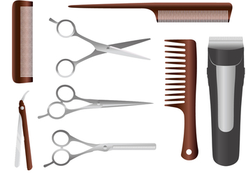 Barber Tools Vectors - бесплатный vector #348079